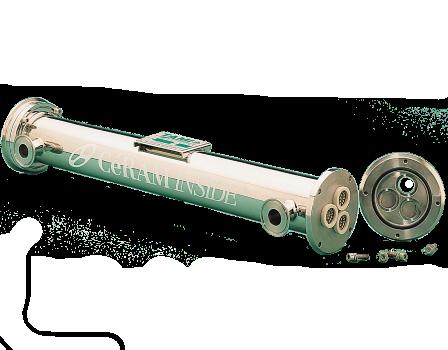 Tubular ceramic membranes Ø25 and Zig-Zag carter